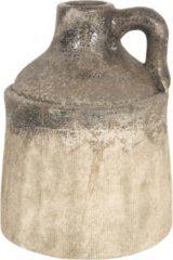 Clayre & Eef Decoratie Fles 6CE1229 Ø 14*20 cm Meerkleurig Keramiek Rond Decoratie Kan Mini Fles