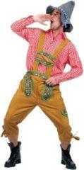 Bruine Funny Fashion Boeren Tirol & Oktoberfest Kostuum | Alpen Jodelaar Man | Maat 52-54 | Bierfeest | Verkleedkleding