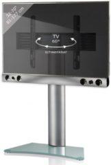 TV-Standfuß + Soundbar 'SBM300' | TV-Wandhalterung incl. Soundbarhalterung VCM silber/aluminium