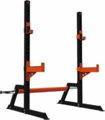 Sveltus krachtstation bodybuilding 160 x 155 x 150 cm zwart/oranje