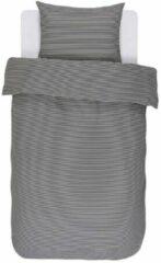 Antraciet-grijze Essenza Zeia - Dekbedovertrek - Lits-jumeaux - 260x200/220 cm + 2 kussenslopen 60x70 cm - Anthracite