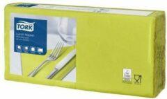 Tork tissue servet 33x33cm, 2 lgs, 1/4 vouw, lime, 10x200 (477840)
