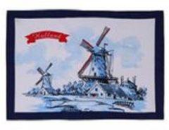 Blauwe Merkloos / Sans marque Theedoek molen Holland 50x70cm
