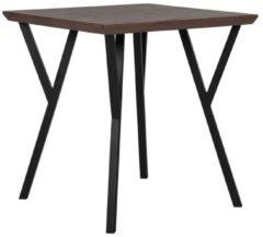 Beliani Eetkamer tafel donkere hout kleur / zwart 70 x 70 cm. BRAVO