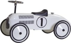 Witte Retro Roller Lewis - Loopauto
