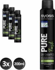 Syoss DroogShampoo Pure Fresh 3x