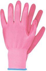 Talen Tools Werkhandschoenen latex roze maat S