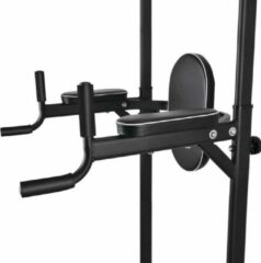 Zwarte OneTwoFit Pull Up Bar Home Gym voor Push Up, Dips en Knee Raises - Pull Up Station - Pull Up Tower - Pull Up Rack