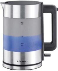 Cloer 4019 alu matt - Wasserkocher blau beleuchtet 4019 alu matt
