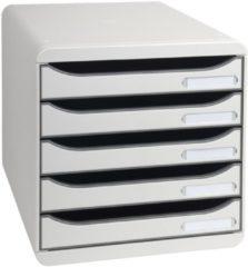 Grijze Exacompta ladenblok Big-Box Plus Classic lichtgrijs