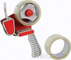 Universeel Tapehouder + 2 rollen inpaktape - 50mm x 50m