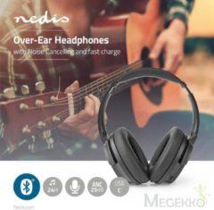 Nedis HPBT3261BK Over-ear Bluetooth-hoofdtelefoon 24 Uur Afspeeltijd 25 Db Noise Cancelling Snel Opladen Zwart