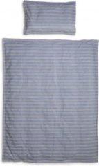 Blauwe Elodie Details Dekbedset (overtrek + kussensloop) - Sandy Stripe