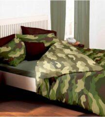Groene Kidz Camouflage 2 persoons dekbedovertrek, Legerprint dekbed 200 x 200 centimeter