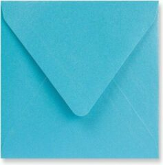 Lichtblauwe EnveloppenGigant.nl Metallic blauwe vierkante enveloppen 14 x 14 cm 100 stuks