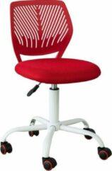 Simpletrade Bureaustoel - Ergonomische bureaustoel - Voor jongeren - In hoogte verstelbaar - Rood
