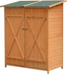 Outsunny Gerätehaus mit Doppeltür Gartenschrank Holzschuppen Gartenaufbewahrung