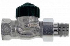 Heimeier radiator afsluiter Brons vernikk, uitvoering staartstuk/binnendraad, recht