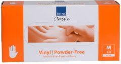 Witte Abena - Vinyl Handschoenen - Wit - Poedervrij - Maat M - 100 Stuks