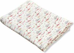 Art Textiel - Hydrofiele Doek - XL - Natuurprint Roze