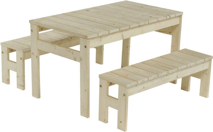 Afbeelding van Outdoor Life Products | Kindertafel met bankjes 'jackie'
