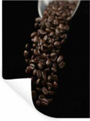 StickerSnake Muursticker Espresso - Koffiebonen voor een espresso - 90x120 cm - zelfklevend plakfolie - herpositioneerbare muur sticker