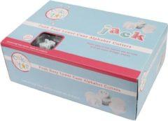 Witte Cake Star Push Easy Uitstekers Alfabet Kleine Letters Set/26