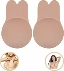 Huidskleurige Merkloos / Sans marque Plak BH - Beugelloze Beha - Strapless Jurk - Onzichtbare Beha - One Size Fits All