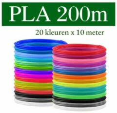 Nolad´s Premium 3D pen PLA filament - Set PLA-FILAMENT 1.75 mm - 20 KLEUREN - 200 meter (20 kleuren, elk 10m) - VOOR 3D-PRINTER EN 3D-PEN