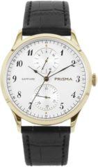 Prisma P.1901 Herenhorloge goudkleurig saffierglas