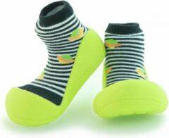 Attipas UFO zwart babyschoenen, ergonomische Baby slippers, slofjes maat 19 , 3-6 maanden