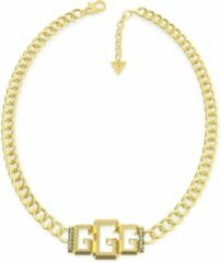 Goudkleurige Guess Jewellery ICONIC GLAM UBN70010 Volwassenen Collier 45,6cm