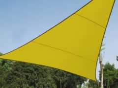 Groene Velleman SCHADUWDOEK - ZONNEZEIL - DRIEHOEK 5 x 5 x 5 m, kleur: lichtgroen