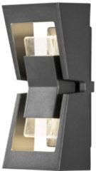 Konstsmide Buitenlamp 'Potenza' Wandlamp, PowerLED 2 x 4W / 230V, kleur Antraciet