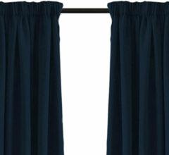 Larson - Luxe blackout gordijn met haak – donkerblauw 3x2.5m – Verduisterend & kant en klaar – per stuk