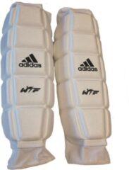 Witte Adidas Taekwondo Onderarmbeschermers CE Medium