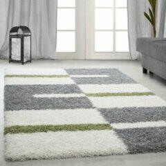 Adana Carpets Hoogpolig vloerkleed - Gala Groen 140x200cm