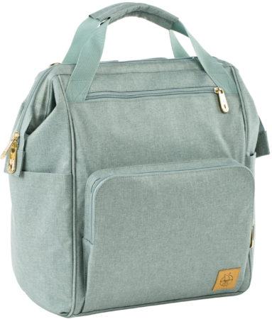 Afbeelding van Groene Lässig luierrugzak met verzorgingsmatje, Glam Goldie Backpack, Mint