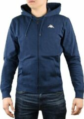 Marineblauwe Kappa Veil Hooded 707117-821, Mannen, Blauw, Sporttrui casual maat: L EU