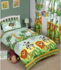 Kidz Jungle Oerwoud dekbedovertrek - eenpersoons dekbed wilde dieren