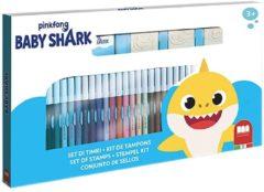 Nickelodeon stempelset Baby Shark junior 43 cm 41-delig