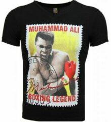 Zwarte T-shirt Korte Mouw Mascherano T-shirt - Muhammad Ali Zegel Print