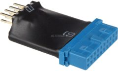 InLine USB 3.0 zu 2.0 Adapter intern - USB 3.0 19pin auf USB 2.0 Pfostenstecker intern 33449L