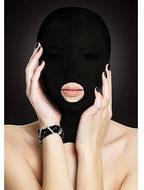 Shots - Ouch! (all) OUCH! - Subjugatie Masker voor Gezichts Bedekking met Open Mond Licht Transparant - Zwart