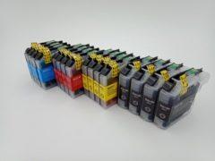 Cyane KATRIZ® huismerk inkt voor Brother 4x LC223XL BK +4x LC223XL C+ 4x LC223XL M+ 4x LC223XL Y (16stuks) - Met chip