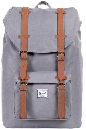 Afbeelding van Grijze Herschel Supply Co. Little America Backpack - Grey/Tan Synthetic Leather