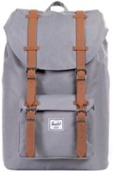 Grijze Herschel Supply Co. Little America Backpack - Grey/Tan Synthetic Leather