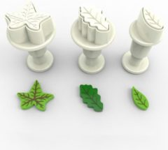 Witte Dekofee Mini Plungers Leaves set/3