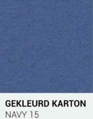 Donkerblauwe Gekleurdkarton notrakkarton Gekleurd karton navy 15 30,5x30,5 cm 270 gr.