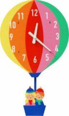 """Rode Rex London - Houten wandklok """"Hot Air Balloon"""""""
